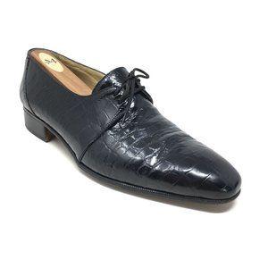 Mauri Oxfords Shoes Size 8.5 Black Full Alligator